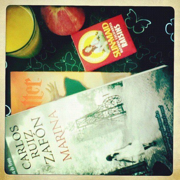 tarde refrescante com livro