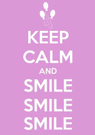 keep calm smile